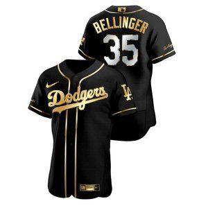 Los  Dodgers Cody Bellinger black gold jersey